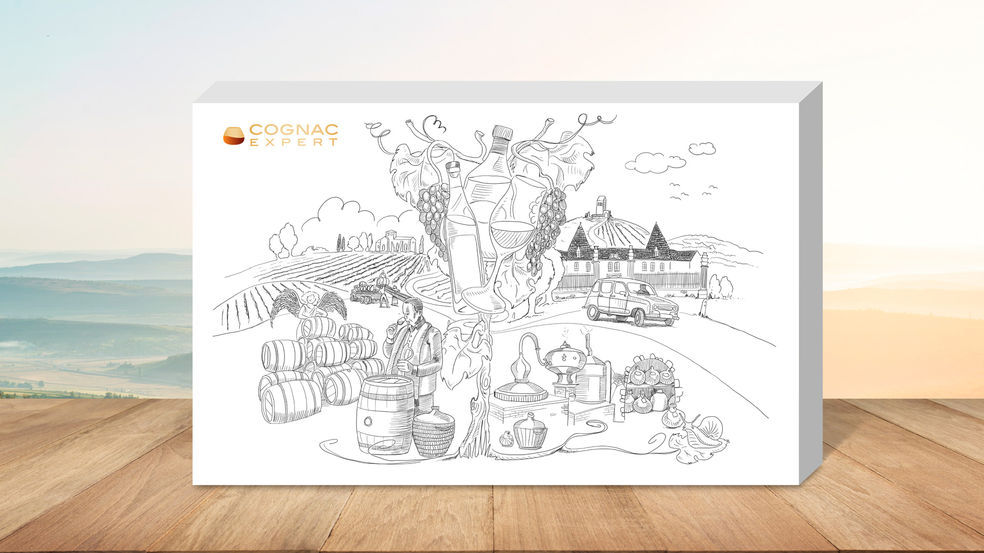 Cognac Expert – Illustration für Cognac Kalender